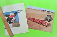 2 Diff ca 1990's Case Farm Equip Dealer Color Brochures Balers Cultivators Xlnt