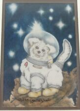 'The Mascot' Illustration by Diana Gallager (SIGNED, LTD) Fantasy, Astronaut Dog