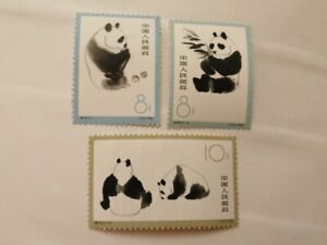 CHINA/CINA/PR China 1963 Giant Panda Scott 708-710, MLH