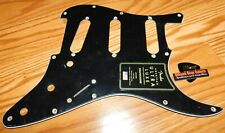 Fender Stratocaster Pickguard Ultra Luxe Black Guitar Parts Project Strat USA