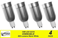 4 Pack x DIMMABLE LED Wide Beam Downlight Globes / Bulbs 10W 240V GU10 Warm