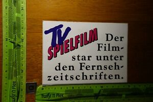 Alter Aufkleber Fernsehprogramm Video Kino TV SPIELFILM (B)