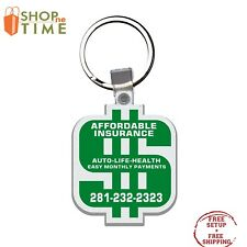 Custom USA Made Dollar Sign Key Tag Printed With Your Logo / School Name 250 QTY