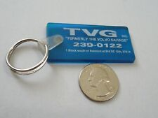Vintage Rubber TVG Inc Formally the Volvo Garage Promotional Keychain