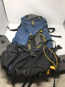 Mountainsmith Backpack Hiking Internal Frame Blue and Yellow Travel 55L Tour