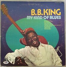 BB King Signed Record Vinyl LP Cover PSA/DNA Autographed My Kind of Blues U03869