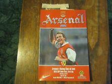 Arsenal v RACING CLUB DE LENS-UEFA CUP-Saison 1999/2000 (Très bon état)