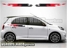 004 side racing stripes Fits Nissan Micra decals vinyl graphics stickers Nismo
