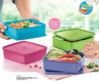 New Tupperware Square-A-Way 4pc 620ml each