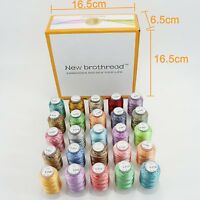 25 Colours Variegated Polyester Embroidery Machine Thread Kit - 500M Each- 40 WT