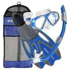 U.S. Divers 256985 Cozumel Seabreeze Adult Snorkeling Combo Set - Blue