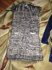 GIRLS CREWCUTS CREW CUTS BLACK GRAY TWEED DRESS SIZE 4 EUC WOOL BLD