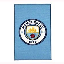OFFICIAL MANCHESTER CITY FC CLUB CREST FLOOR RUG 80cm x 50cm