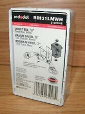 "Red Dot (RIH31LMWH) 1/2"" Three Hole White Outlet Box (S100WHE) **NEW**"