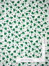 St Patrick's Day Shamrock Clover Toss Words White Cotton Fabric By The Yard