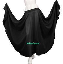 Emerald Green - Chiffon Full Circle Skirt Belly Dance Gypsy 9 Yard Flamenco JUPE