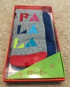 NEW Hue Women's 2 Pair Pack FA LA LA Footsie Cozy Socks Boxed Gift Set OS