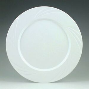 "Newbury White Plastic Plates 9.5"" 15 Pack White Plastic Party Tableware"