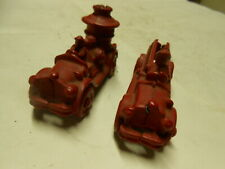 1930S Williams Cast Iron Pair Of Fire Trucks Pumper And Ladder 3 3/4 Inch