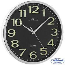 Atlanta Wall Clock Quartz Black Watch Workshop buerouhr Ø approx. 30 cm