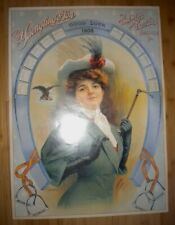 "Yuengling's Beer Poster Girl Equestrian with 1908 Calendar 23"" x 17"""