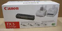 New Canon FX3 Black Laser Toner Cartridge 1557A003BA CFX L3500 IF, L4000 FAX L20