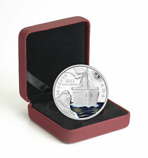 2012 Canada 50-Cents Silver Plated Colored Coin R.M.S. Titanic 100th Anniversary