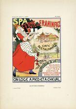 """""""SPA FERME de FRAHINFAZ""""Planche originale entoilée Litho DUYCK & CRESPIN 26x35cm"""