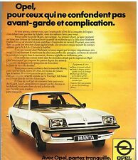 Publicité Advertising 1976 Opel Matra