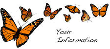 Custom Address Mailing Label Personal Monarch Butterfly
