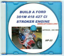 "How to Build a 1000 HP Ford 5.0 302 351W/ 418 Stroker Engine Manual Video ""DVD"""
