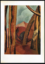 1950s Vintage Abstract Tree Landscape Pablo Picasso Art Offset Litho Print