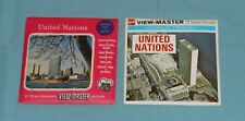vintage UNITED NATIONS VIEW-MASTER REELS - 2 different sets with booklets