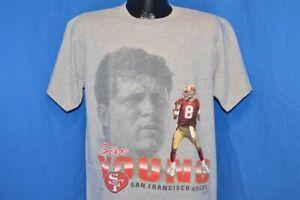 vintage 90s SAN FRANCISCO 49ERS NINERS GREY STEVE YOUNG USA t-shirt FOOTBALL M