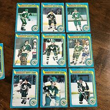 1979-80 O-PEE-CHEE   MINNESOTA NORTH STARS 15 card team lot--unmarked checklist