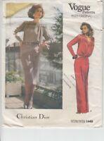 Vogue 1449 Misses Dress Christian Dior Paris Original Sewing Pattern 8