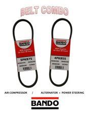 SUBARU FORESTER 07-08 2.5L BANDO OEM 2 Pcs Serpentine Belts Kit  ALT-AC-PS