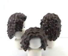 Lego 3 Hair Wig For Female Girl Minifigure Figure  Long Dark Brown Curly Wavy