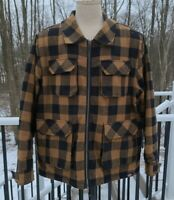 Dickies Brown and Black Plaid Sherpa Lined Shirt Jacket Men's Size XL