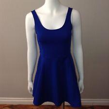 H&M Divided Sundress Dress Size 8 A Line Bodycon Sleeveless Blue Scoop Neck