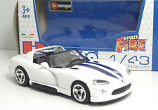"Bburago 30000 Street Fire  Dodge Viper RT/10 ""Bianco"" METAL Scala 1:43"