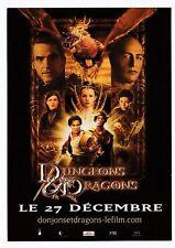 DONJONS ET DRAGONS  carte publicitaire de la sortie du film CART COM