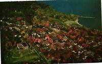 Vintage Postcard - Aerial View Of Port Henry Lake Champlain New York NY #3825