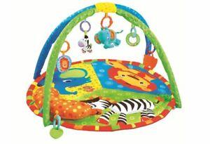 Baby Playmat Animal Paradise Activity Play Mat With Sensory Toys & Pillow