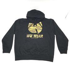 Wu Tang Clan Wu Wear Brand Limited Hip Hop Rap Camo Logo Black Hoodie Sweater XL