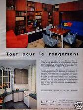 PUBLICITÉ 1960 LEVITAN TOUT POUR LE RANGEMENT MEUBLES - ADVERTISING