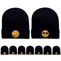 Emoji Women Men's Beanie Knit Ski Cap Hip-Hop Fashion Winter Warm Unisex Hat