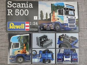 REVELL 07528 - SCANIA R 500 TRUCK - 1/24 MODEL KIT + EXTRAS - COMES IN WRONG BOX