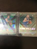 Panini Prizm Emergent Green And Freshman Green Luka Doncic Insert RC Lot Mavs