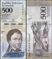VENEZUELA 500 Bolivares, 2016 (2017), P-NEW, XF-aUNC World Currency -